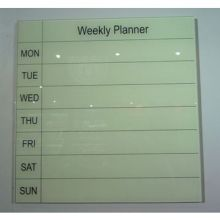 Glass Week Planner Writing Borad