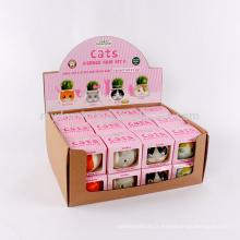 Boîte faite sur commande d'affichage de papier de Kraft, boîte de présentation pliable ondulée à vendre