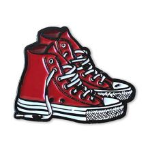 Factory custom high quality clothing metal shoes custom soft enamel pin
