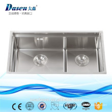DS7843 Handmade corner kitchen sinks stainless steel blanco kitchen sinks mop sink