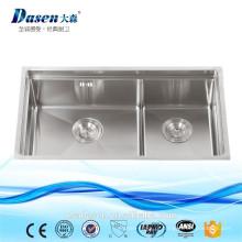 DS7843 Handmade canto pias de cozinha em aço inoxidável blanco pia da cozinha mop pia