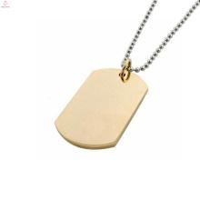 Venda quente dog tag pingente, pingente de ouro projeta pingente quantum homens