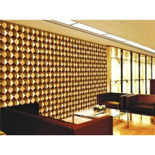 Gold Color 3d Decorative Wall Panel For Bar / Ktv Decoration