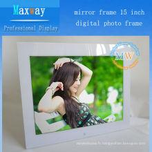 Miroir cadre 15 pouces cadre photo numérique navigateur wifi