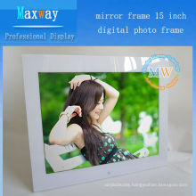 Mirror frame 15 inch digital photo frame browser wifi