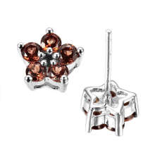 Color Stone -Garnet Jewelry Earring (GE0924)