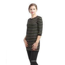 Завод Продажа простой дизайн полосой Pattern кашемировый свитер