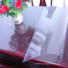 Folha transparente macia do PVC para a tabela