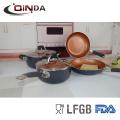 Cookware de cuivre en céramique de marché des Etats-Unis