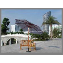 Rotación 10FT tira tela poliester paraguas de madera