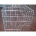 Boîte en gabion soudée carrée galvanisée en usine, grille de gabion soudée 50x50mm
