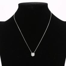 Kalung 925 logam Perak sterling dengan loket