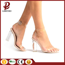 high heels PVC transparent elegant sandals