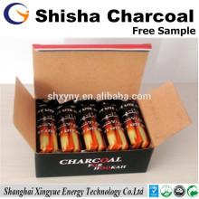 Tempo de queima longa 33mm de carvão de madeira shisha para narguilé árabe