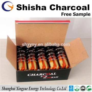 Long burning time 33mm shisha wood charcoal for Arabian hookah