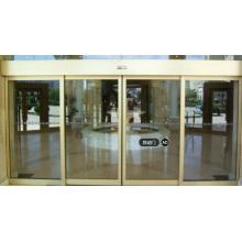 Au-dessous de 60dB Porte coulissante vitrée en verre à portes automatiques