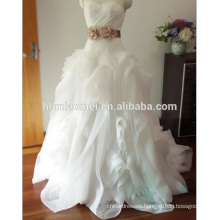 Amazing princess ball gown modern bridal strapless wedding dress yiwu