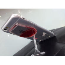 2015 New Red Wine Glass Phone Case for iPhone 6 with Stand