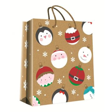 CHRISTMAS SERIES KRAFT GIFTBAG20-0