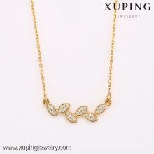 Оптовая продажа нового типа верхней продажи 18 К золото новейший цветочный дизайн золотое ожерелье