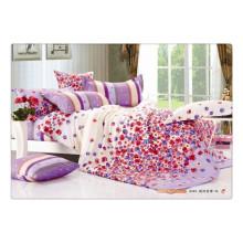 100 Baumwolle 40s 128 * 68 luxuriöser, weicher, hochwertiger Pigmentdruck asiatischer Bettbezug