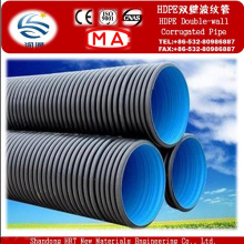 De Bonne Qualité Prix de tuyaux ondulés de mur de double de HDPE pour le drainage