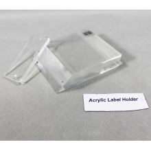 Acrylic Paperweight with Sign Holder