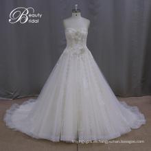 Vestidos de novia Champagne de longitud de té