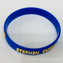 Professionelle Custom Embossed Name Silikon Wristband Promotion Geschenk