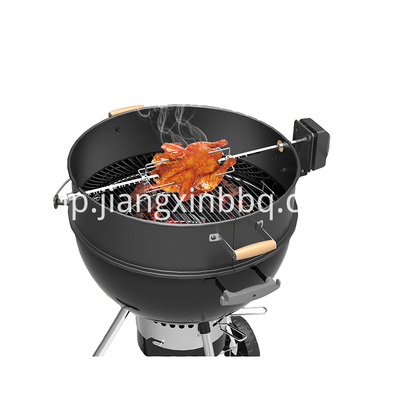 57 Cm Charcoal Bbq Kettle Rotisserie Ring