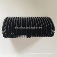 Fregadero de fundición de aluminio fundido anodizado negro