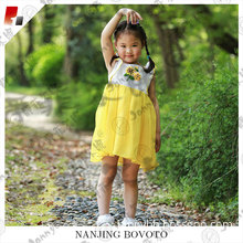 Child yellow sunflower fancy wedding dancing dress