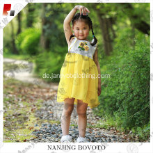 Child yellow sunflower fancy wedding dancing dress