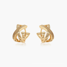 96909 xuping unique design cheap 18k gold color lettered design fashion ladies hoop earrings