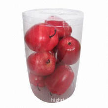 Red Artificial Apples in PVC Box Decoration