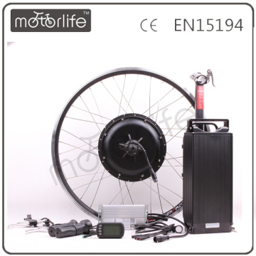 MOTORLIFE/OEM CE ROHS pass 48v 1500w rear rack ebike conversion kit