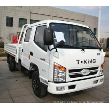 T-King Diesel 2 Ton Light Truck with Double Cab for Sale