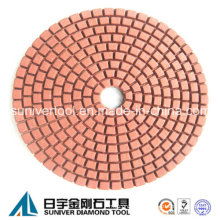 Red Color Standard Wet Use Diamond Polishing Pad
