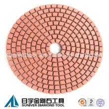 Cor vermelha padrão uso molhado diamante almofada de lustro