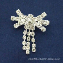 wholesale hot sale fashion simple design rhinestone brooches
