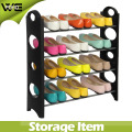 4-Tier Shoe Organizer Storage Floor Standing Rack 12 pares de plástico
