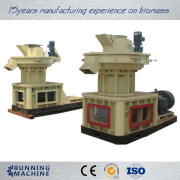Vertical ring die wood pellet mill