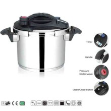 High Quality 304 Steel Advanced Pressure Cooker with Easy Open Lid