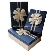 Qualidade texturizada arte caixas de papel com decoração de fita