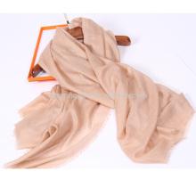 mezclas de seda y lana chal bufanda súper lisa de color sólido