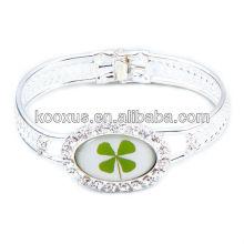 Lucky lottery four leaf clover bracelet/bangles