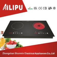 Metal Housing and Touch Sensor Dual Burner Cooktop