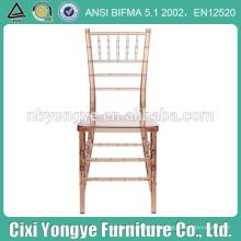 Rental for outdoor wedding Clear resin chiavari chair