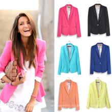 Высокое качество для похудения досуг пиджаки женские костюмы (MU6626-1)