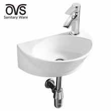 ceramic wall hung elegant design lavatory wash basin